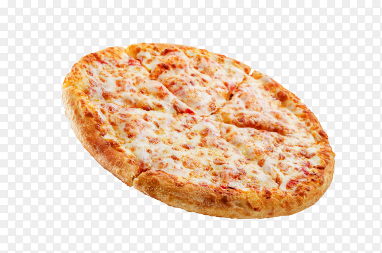 Delicious Pizza with cheese chicken on transparent background PNG