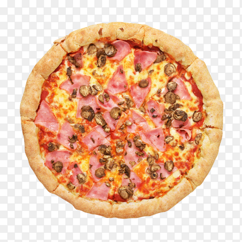 Delicious pizza isolated on transparent background PNG