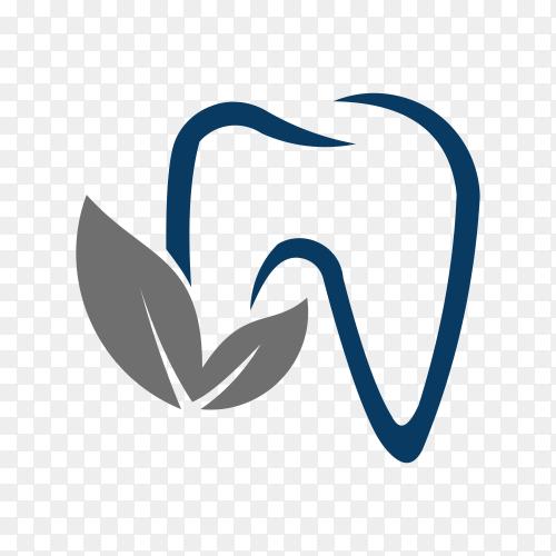 Dental Logo design on transparent PNG