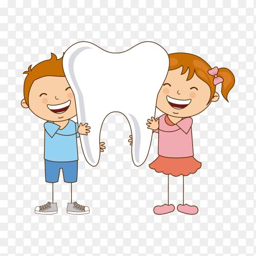 Dental care design on transparent background PNG