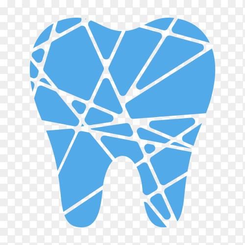 Dental clinic logo design on transparent background PNG.png