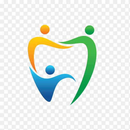 Dental people logo on transparent background PNG