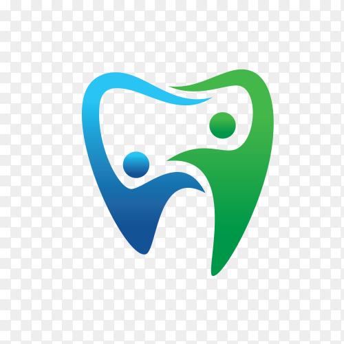 Dental people logo premium vector PNG