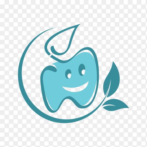 Dental symbol logo template on transparent background PNG