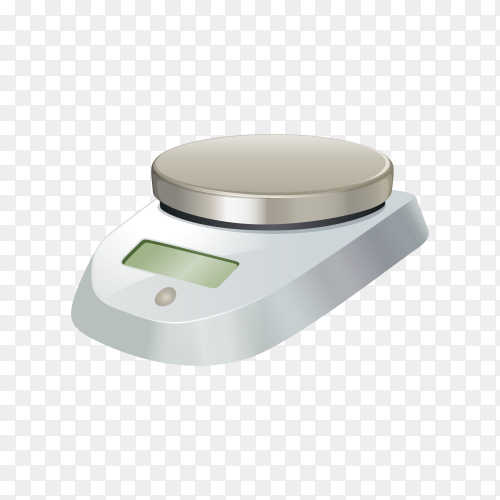 Digital scale with flat plate illustration on transparent background PNG