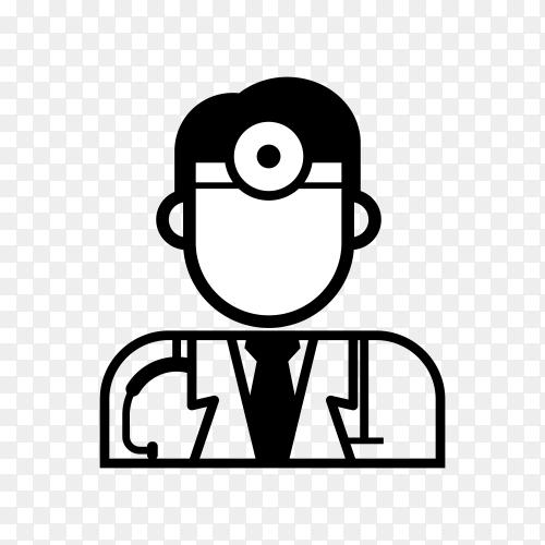 Doctor medical logo on transparent background PNG