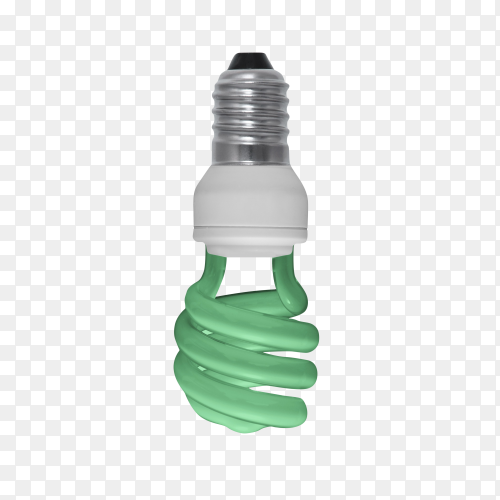 Eco led light bulb isolated on transparent background PNG
