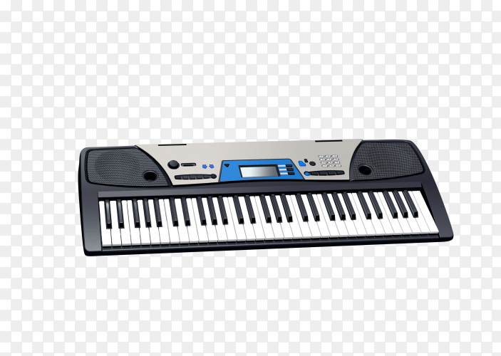 Electric piano on transparent background PNG