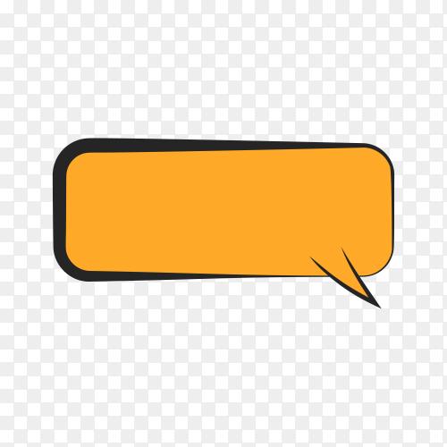Empty orange speech bubble on transparent background PNG