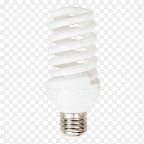 Energy saving lamp isolated on transparent background PNG