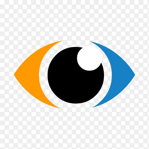 Eye care logo on transparent background PNG
