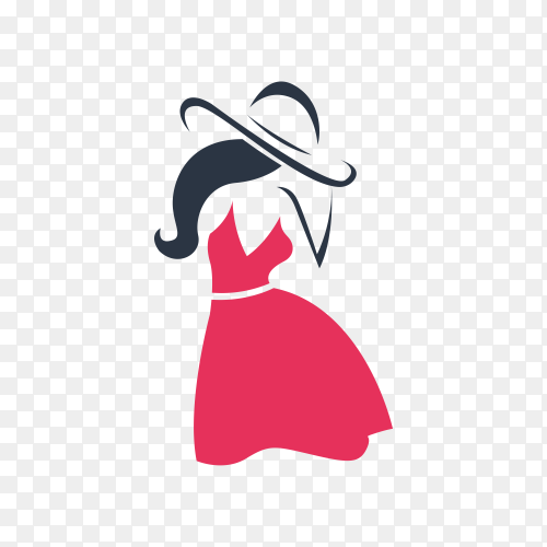 Fashion and beauty logo and emblem on transparent background PNG