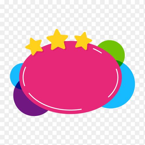 Flat design colorful speech bubble premium vector PNG