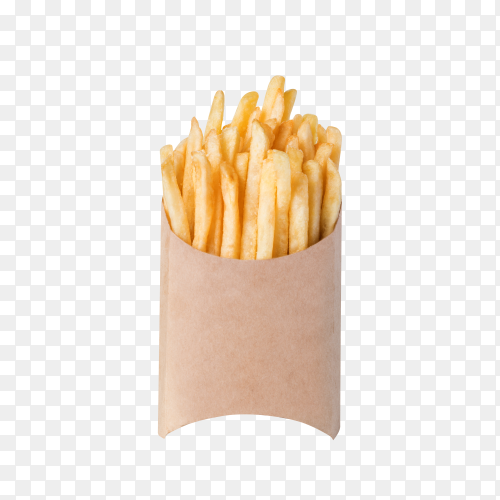French fries isolated on transparent background PNG
