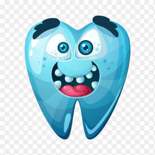 Good tooth isolated on transparent background PNG
