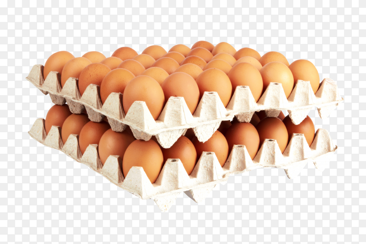 Group of eggs isolated on transparent background PNG