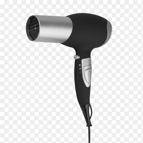 Hair dryer on transparent background PNG