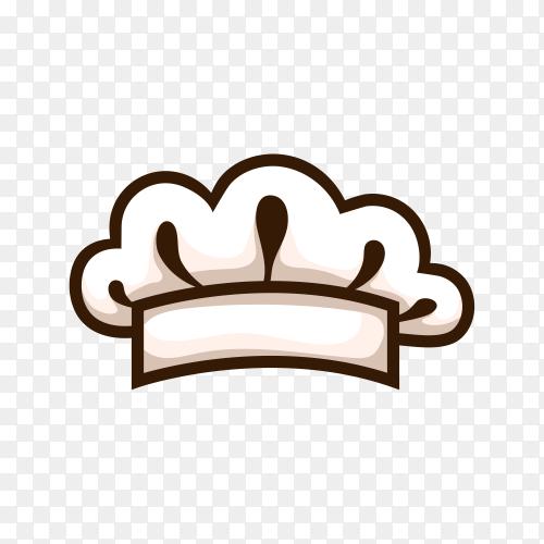 Hand drawn chef hat illustration on transparent background PNG