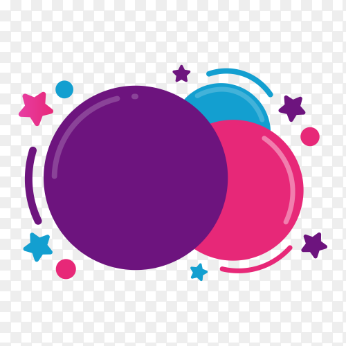 Hand drawn colorful speech bubble on transparent background PNG