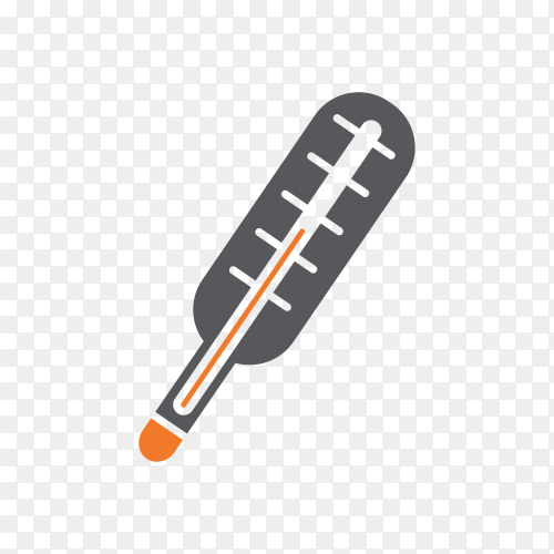 Hand drawn thermometer isolated on transparent background PNG