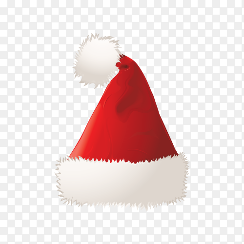 Hat of santa claus isolated on transparent background PNG.png