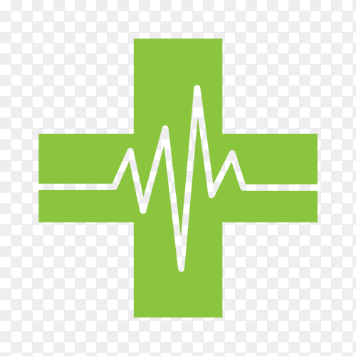 Health for heart rate logo and nature life on transparent background PNG
