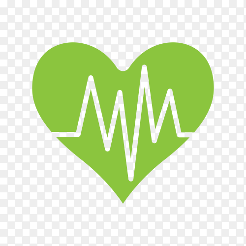Heart rate Diagram glyph icon on transparent background PNG