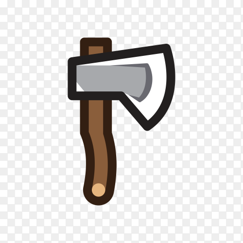 Illustration of Axe for creating video game on transparent background PNG