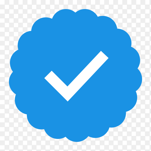 Illustration of Badge check icon on transparent background PNG