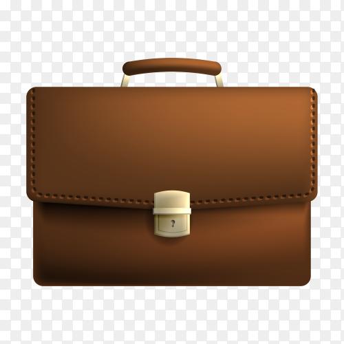 Illustration of Lawyer leather bag on transparent background PNG