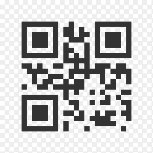 Illustration of Qr code template to scan by smart phone on transparent background PNG