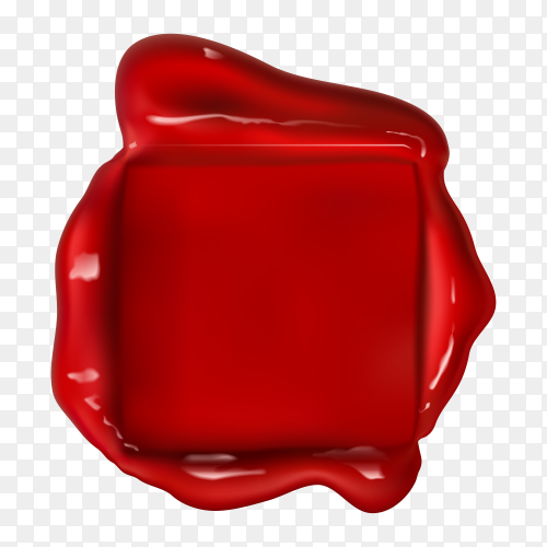 Illustration of Wax seal on transparent background PNG