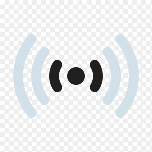 Illustration of WiFi signal on transparent background PNG