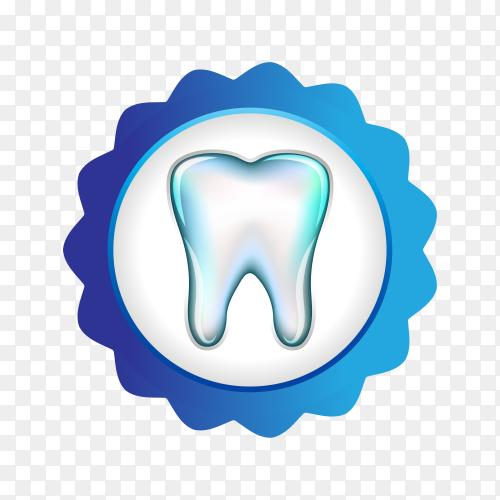 Illustration of dental logo design on transparent background PNG.png