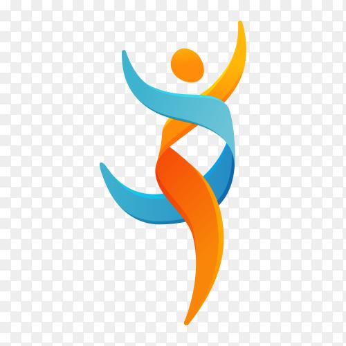 Illustration of human care logo on transparent PNG