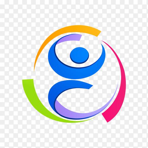 Illustration of human care logo premium vector PNG
