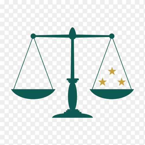Justice and law logo, creative simple logo for lawyer identity on transparent PNG