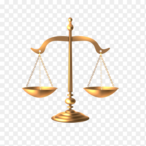 Justice law legal logo icon template on transparent background PNG