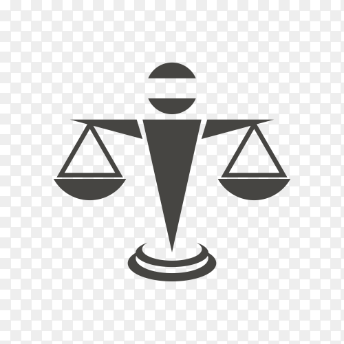 Justice law legal logo icon template premium vector PNG