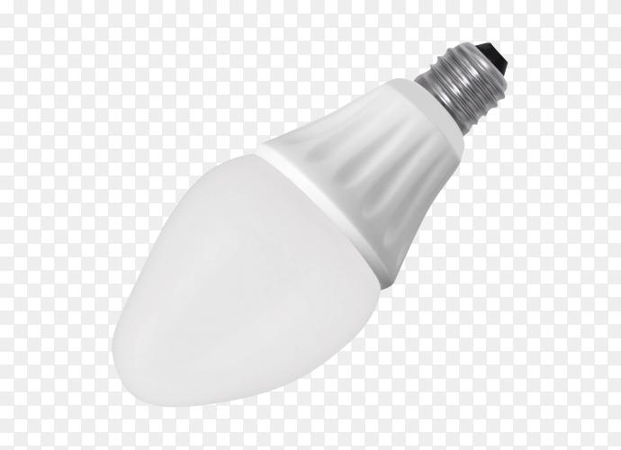 LED energy saving bulb on transparent background PNG