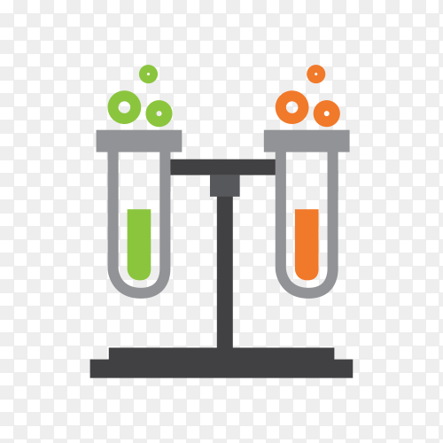 Laboratory equipment on transparent background PNG
