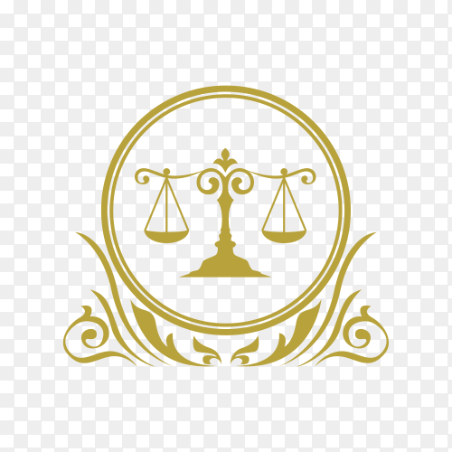 Law and Attorney Logo Design premium vector PNG