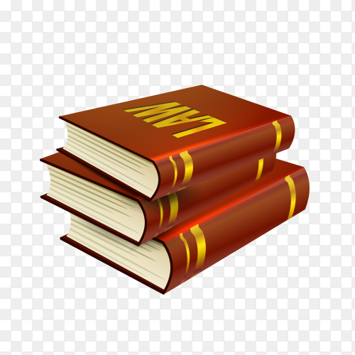 Law books stack icon isolated on transparent background PNG