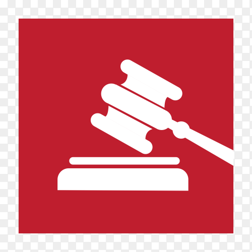 Law firm icon and symbol illustration on transparent background PNG