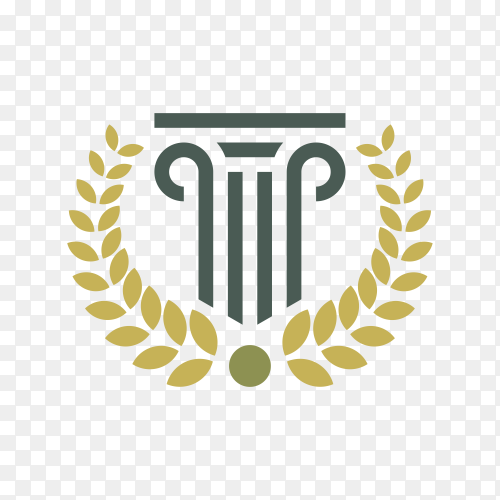 Law firm logo design stock on transparent PNG