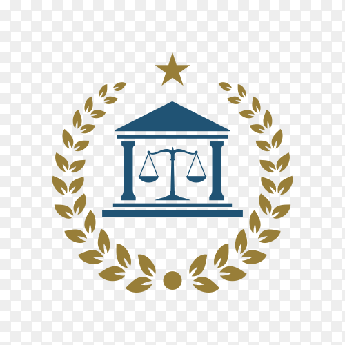 Law firm simple logo stock design premium vector PNG
