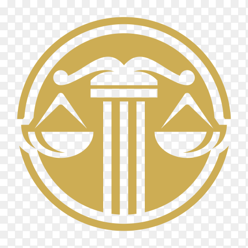 Law icon isolated on transparent background PNG