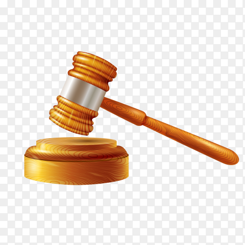 Law judge gavel icon isolated on transparent background PNG