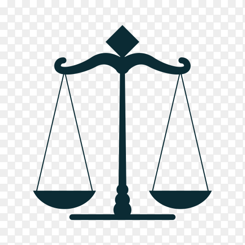 Law label icon on transparent PNG