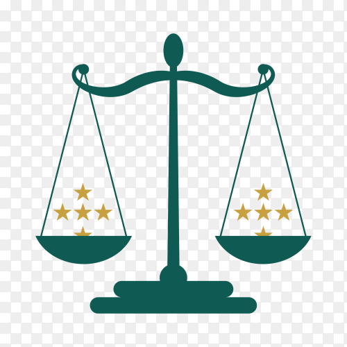 Law label icon on transparent background PNG